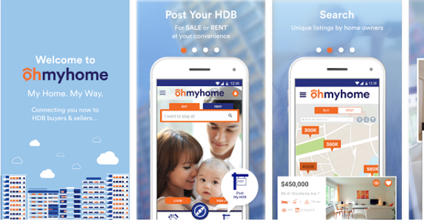 Ohmyhome Mobile App in Singapore