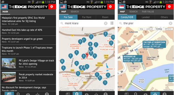 The Edge Property Mobile App in Singapore